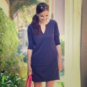 J. CREW NAVY COTTON TUNIC/DRESS SIZE XS